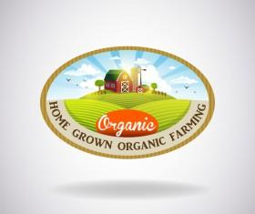 Farm natural fresh organic label design vector 02