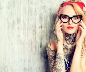 Fashion tattoo woman HD picture