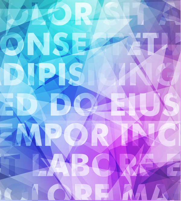 Fashion text art background vector