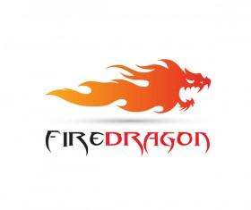 Fire dragon logo vector
