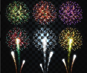 Firework lighting effect illustration vector 01