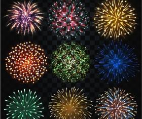 Firework lighting effect illustration vector 03