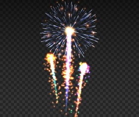 Fireworks effect illustration shiny vector
