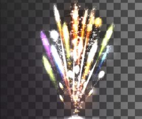Fireworks effect shine illustration vector material