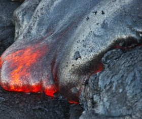 Flowing magma Stock Photo 01