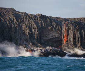 Flowing magma Stock Photo 02