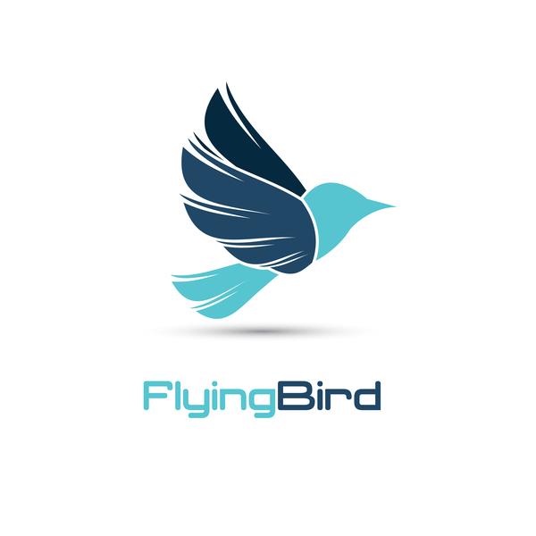 Flying bird logo vector