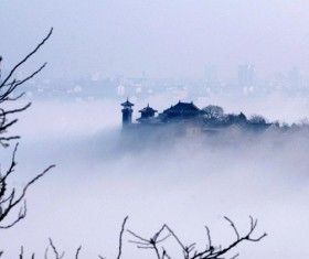 Fog-filled Penglai Pavilion HD picture