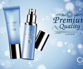Fresh blue cosmetic ream poster design vectors 02