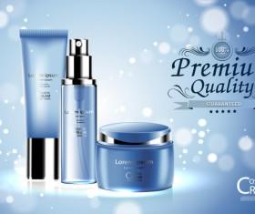 Fresh blue cosmetic ream poster design vectors 05