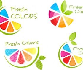 Fresh colors logo design vector
