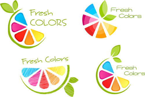 Fresh colors logo design vector