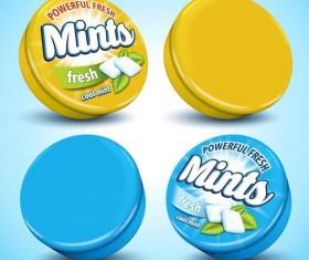 Fresh mints poster vector