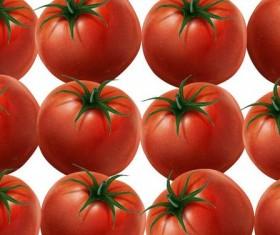 Fresh tomato pattern vector