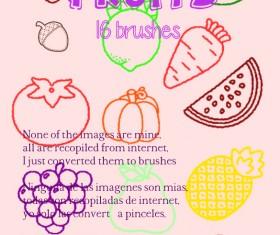 Fruits outlines Photoshop Brushes