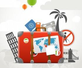 Go travel desing background vector