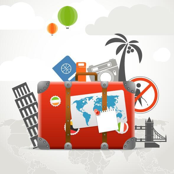 Go travel desing background vector