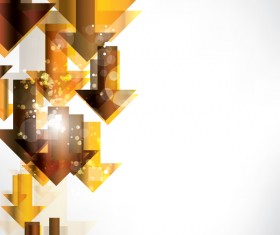 Golden abstract arrow shiny vector