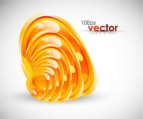 Golden abstract whirl design vector background