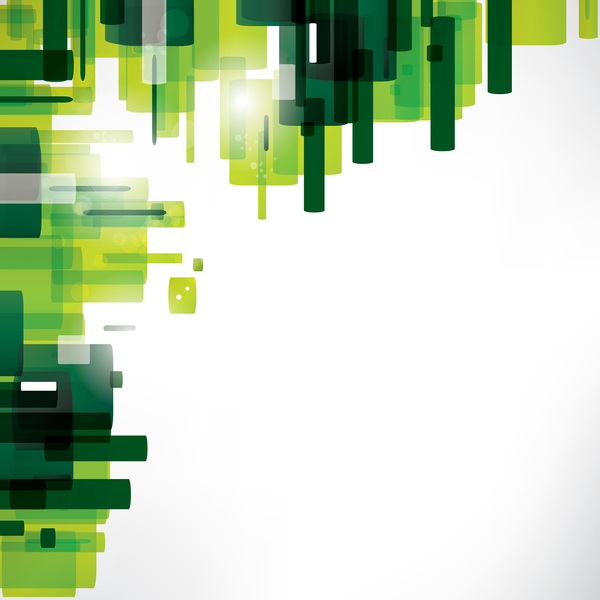 Green abstract art vector material