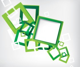 Green frame with white background vector 02