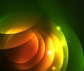 Green light effect abstract background vector 01