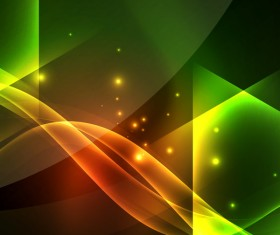 Green light effect abstract background vector 02