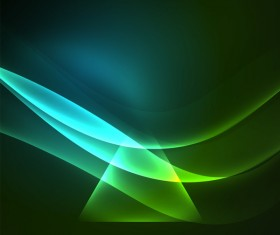 Green light effect abstract background vector 03