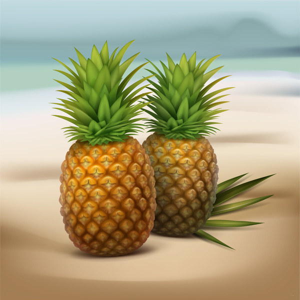 Green pineapple vector