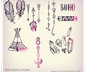 Hand Drawn Elements Photoshop Brushes