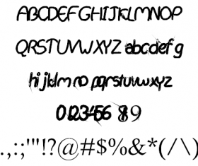 Hand drawing creative font