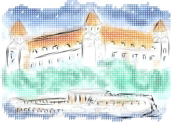 Hand drawn bratislava vector material