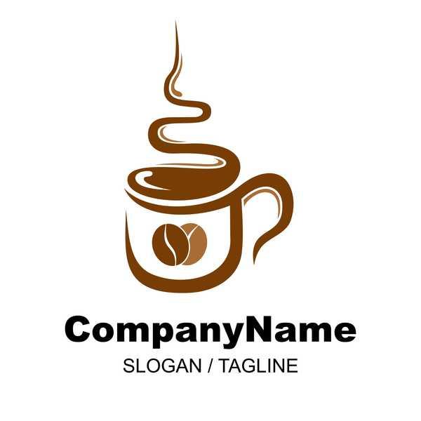 Hand drawn coffee logos design vector set 01