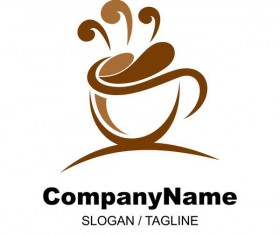 Hand drawn coffee logos design vector set 02