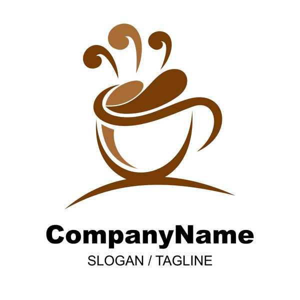 Hand drawn coffee logos design vector set 02