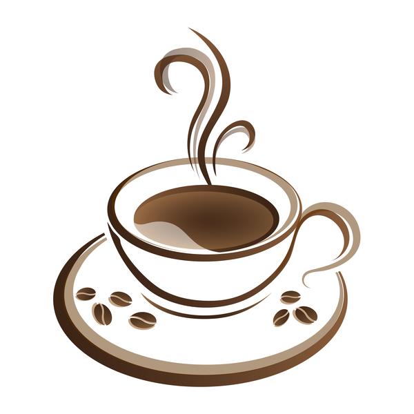 Hand drawn coffee logos design vector set 03