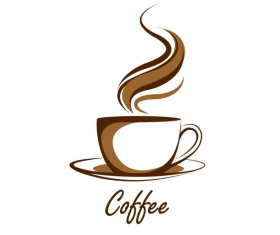 Hand drawn coffee logos design vector set 07