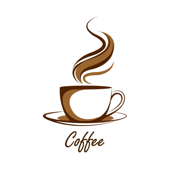 Hand drawn coffee logos design vector set 07