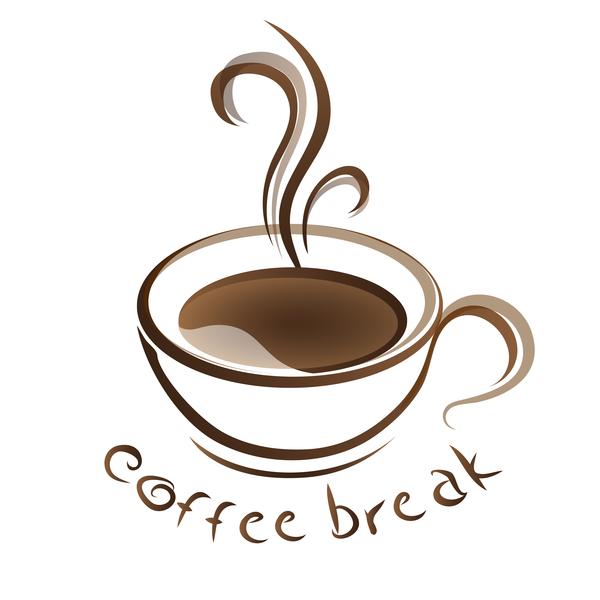 Hand drawn coffee logos design vector set 08