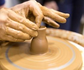 Hand made clay pots Stock Photo 02