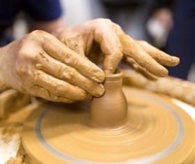 Hand made clay pots Stock Photo 04