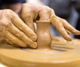 Hand made clay pots Stock Photo 05