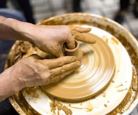 Hand made clay pots Stock Photo 08