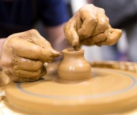 Hand made clay pots Stock Photo 10