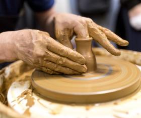 Hand made clay pots Stock Photo 12