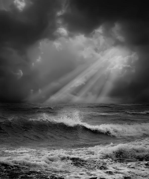 Haze sea weather Stock Photo 01