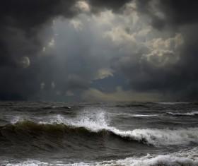 Haze sea weather Stock Photo 02