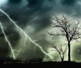 Haze sky lightning Stock Photo 02