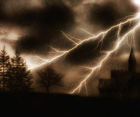 Haze sky lightning Stock Photo 03