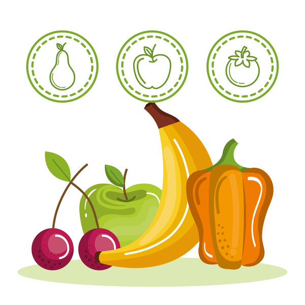 Healthy natural food vector 01